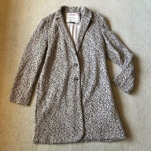 Anthropologie Cartonnier Leopard Knit Blazer Med.